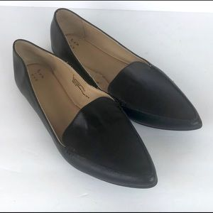 Women's black Micah pointy toe loafers